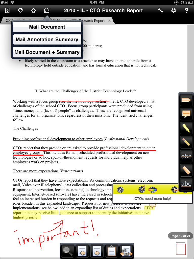 Although Iannotate Doesn't Give You The Option Of Synchronizing To A Web  Page Like The Kindle App Does, It Does Let You Email Your Annotations  (with Or