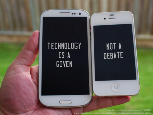 Technology is a given, not a debate