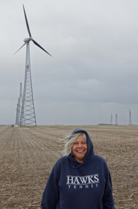 Pam Moran Discovers Iowa Wind Turbines!