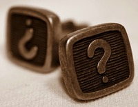 question mark cuff links