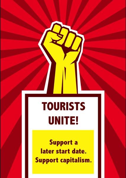 Tourists unite