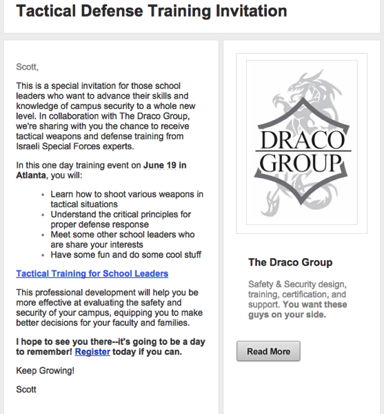 Tactical defense training for school leaders