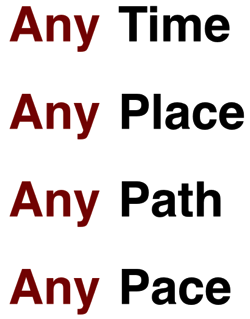 Any time, any place, any path, any pace