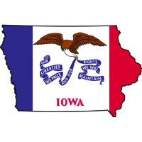 Iowa flag state outline