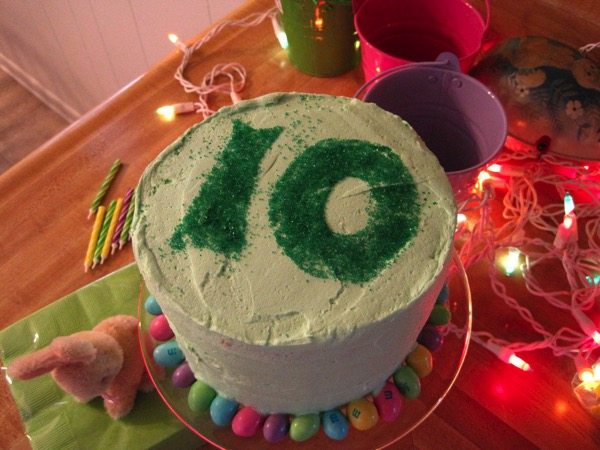 10th birthday cake
