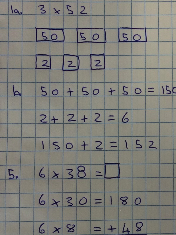 Elementary student multiplication problems