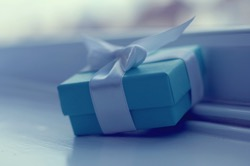 Little blue gift box