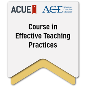 ACUE Certificate in Effective College Instruction