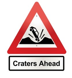 Craters ahead