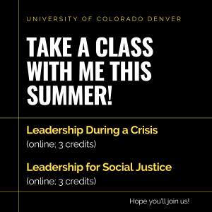 University of Colorado Denver 2020 Summer Courses with Scott McLeod