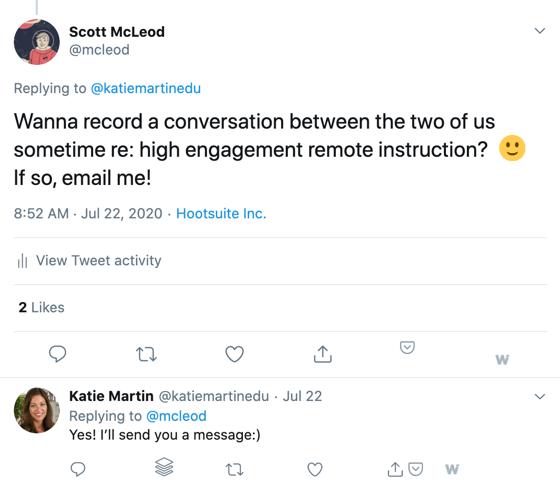 Katie Martin Twitter exchange