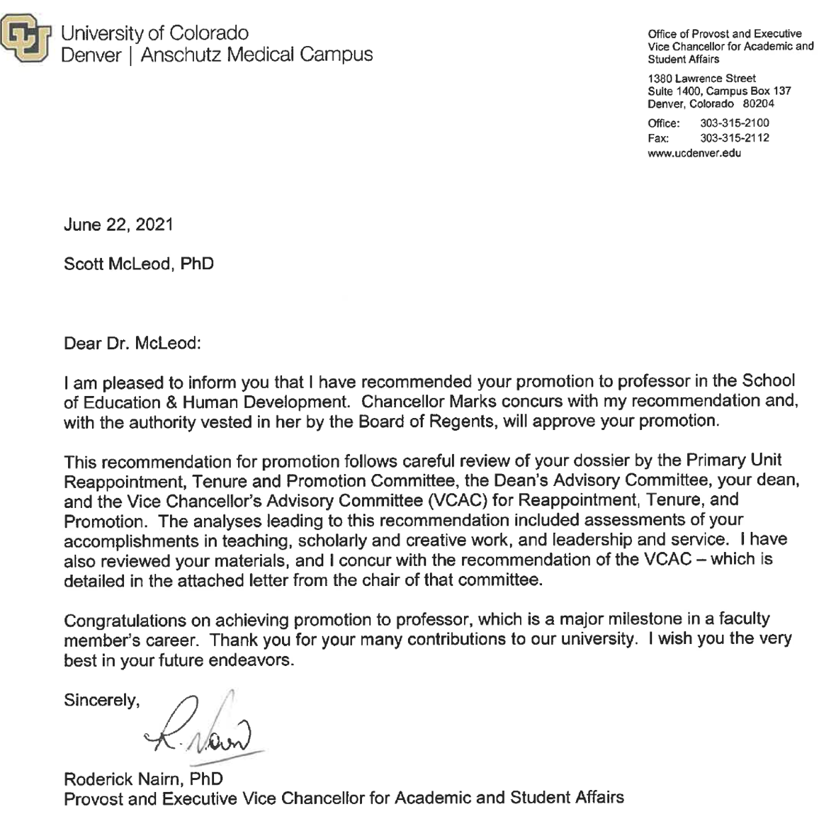 Professor Letter REDACTED